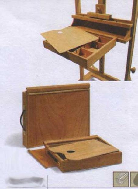 Ящик д/художника, крепящийся к мольберту, 35х43см